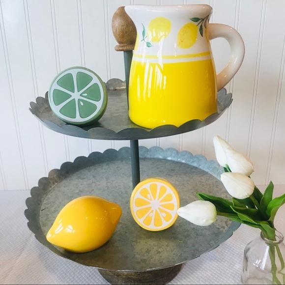 4pc Terramotto Ceramic Picture And Lemon Set Nwt